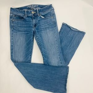 American Eagle Womens Jeans 6 Short Blue Kick Boot
